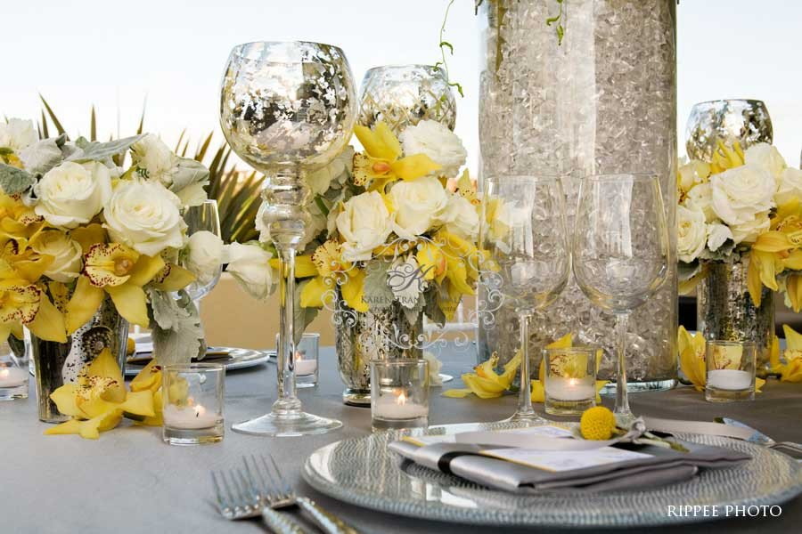Yellow and Grey Wedding Decor Best Of Platinum touch events Color Crush Yellow Gray