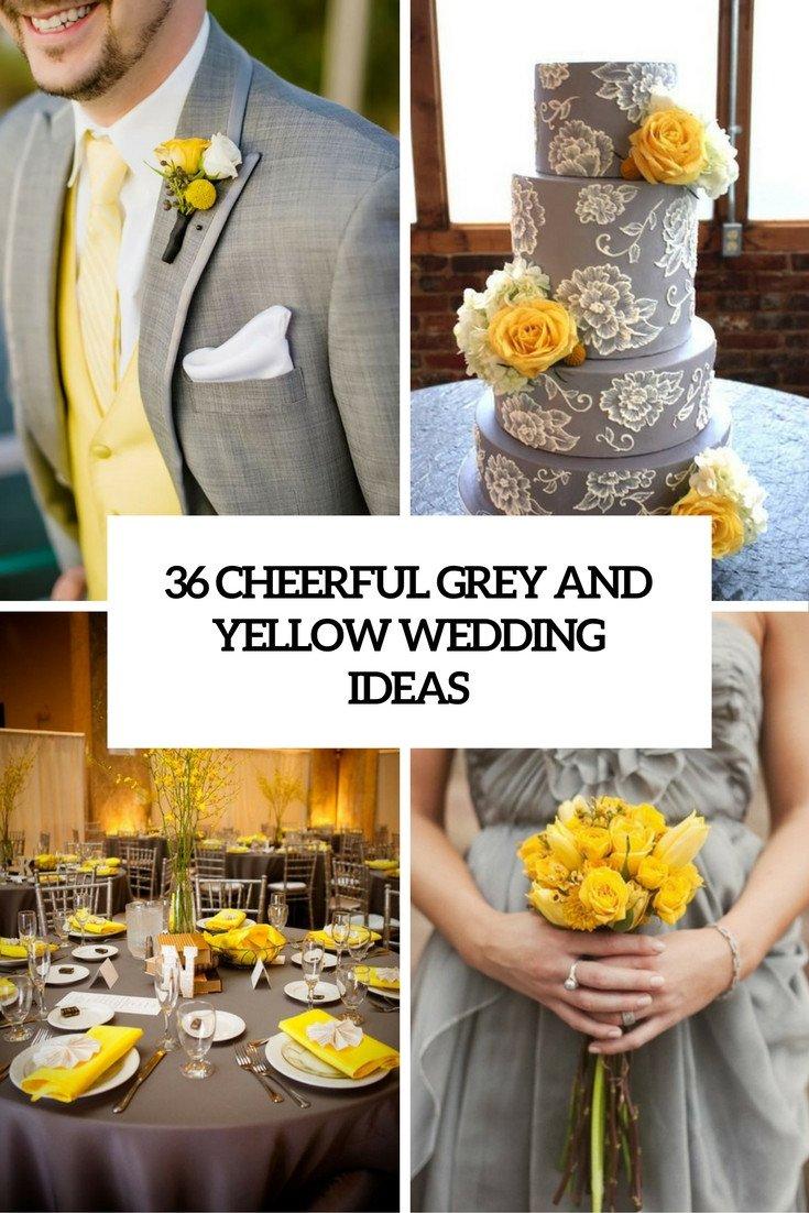 Yellow and Grey Wedding Decor Elegant 36 Cheerful Grey and Yellow Wedding Ideas Weddingomania