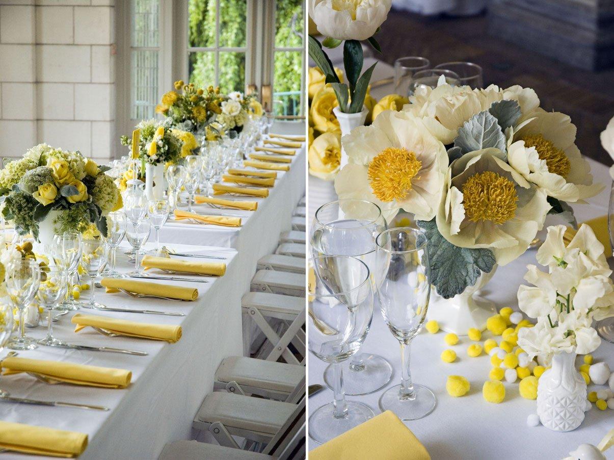 Yellow and Grey Wedding Decor Fresh Yellow Inspiration