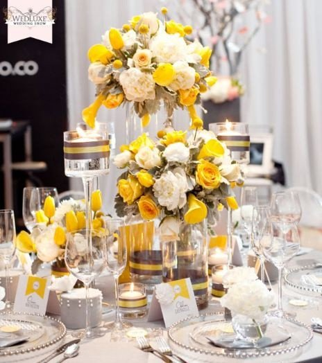 Yellow and Grey Wedding Decor Lovely Yellow Reception Wedding Flowers Wedding Decor Yellow Wedding Flower Centerpiece Yellow