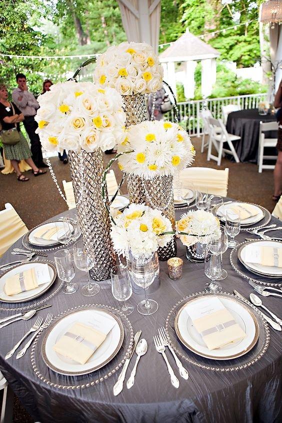 Yellow and Grey Wedding Decor New Yellow and Grey Wedding theme