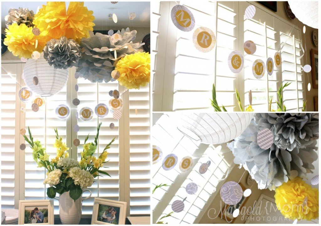Yellow and Grey Wedding Decor Unique Yellow and Grey Bridal Shower