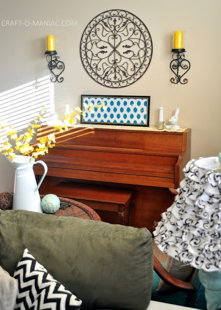 Yellow and Turquoise Home Decor Beautiful Home Decor My Turquoise and Yellow Family Room Craft O Maniac