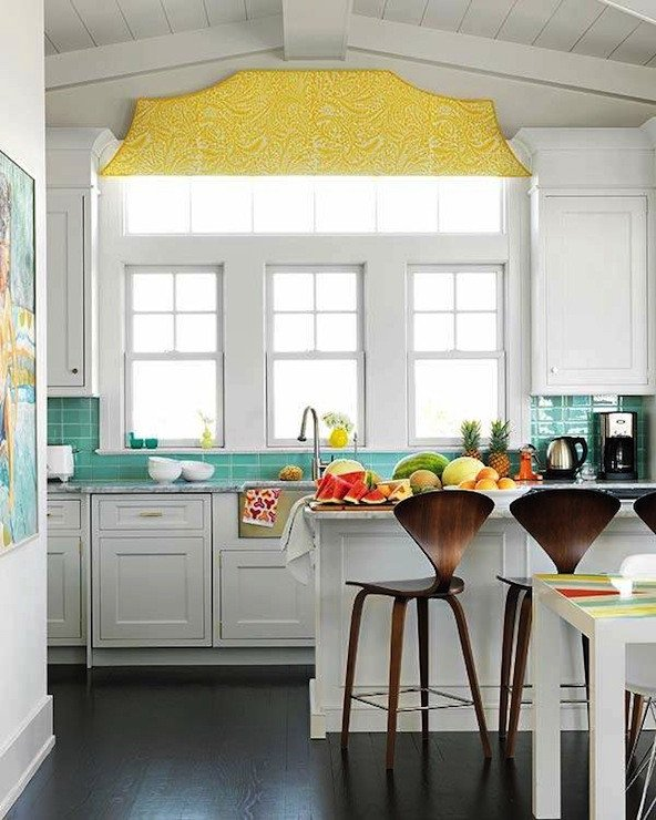 Yellow and Turquoise Home Decor Beautiful Turquoise and Yellow Kitchen Contemporary Kitchen House Beautiful