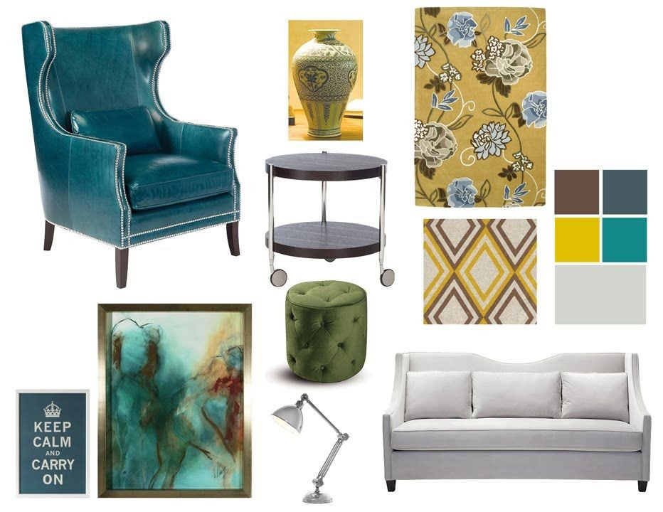 Yellow and Turquoise Home Decor Elegant Teal & Mustard Yellow Color Bo Interior Decorating