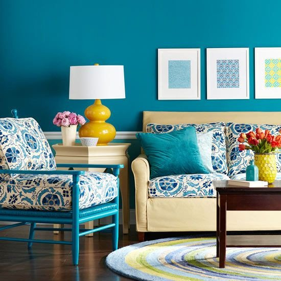 Yellow and Turquoise Home Decor Fresh Living Room Color Schemes