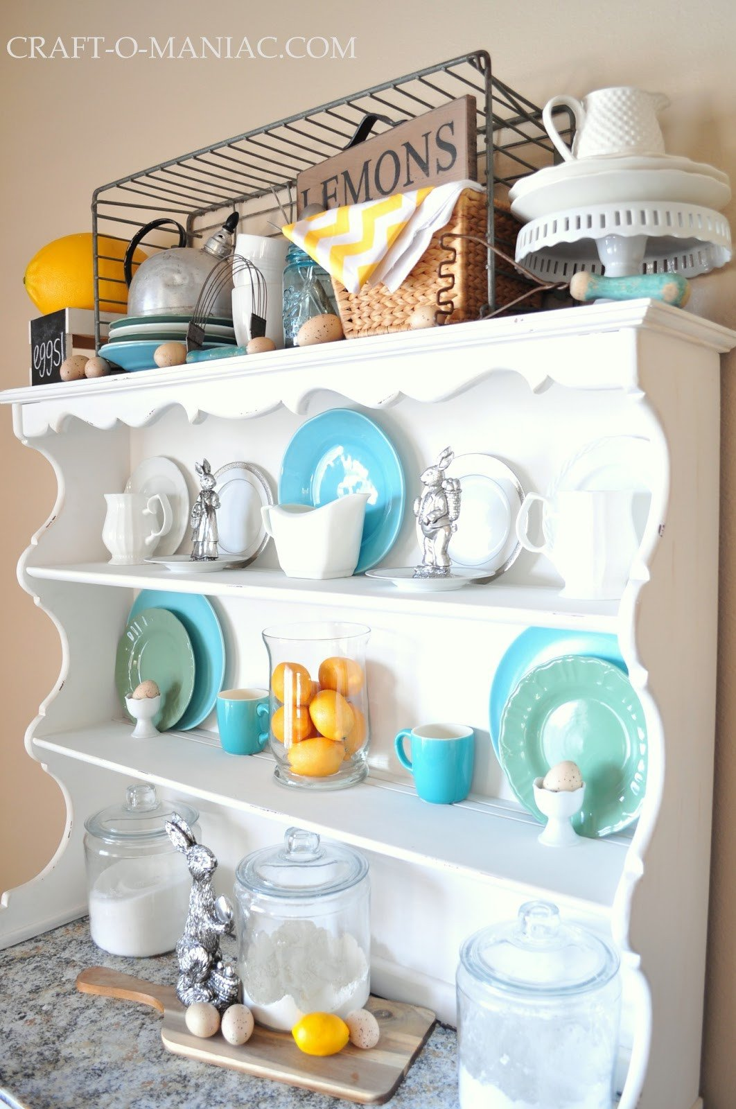 Yellow and Turquoise Home Decor Unique Home Decor Easter Yellow and Turquoise Hutch Craft O Maniac