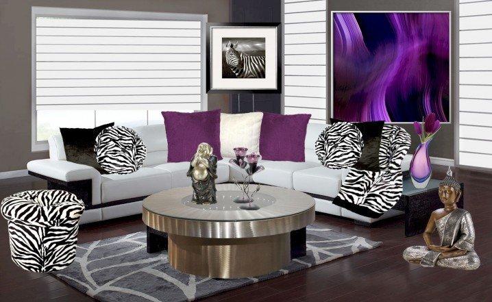 Zebra Decor for Living Room Awesome Dramatic Zebra Living Room Decoration Ideas