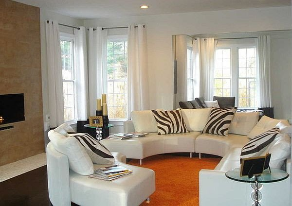 Zebra Decor for Living Room Awesome Zebra Stripes Pillows for A Living Room Decoist
