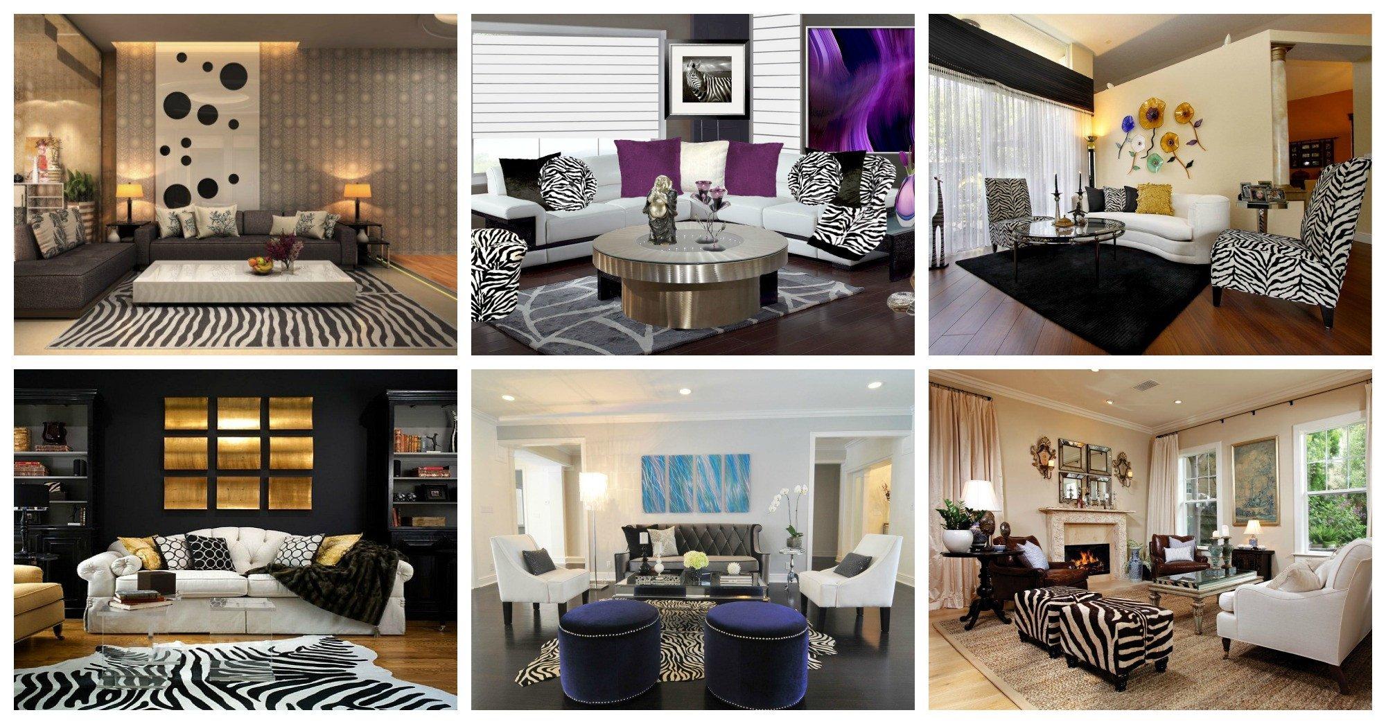 Zebra Decor for Living Room Lovely Dramatic Zebra Living Room Decoration Ideas