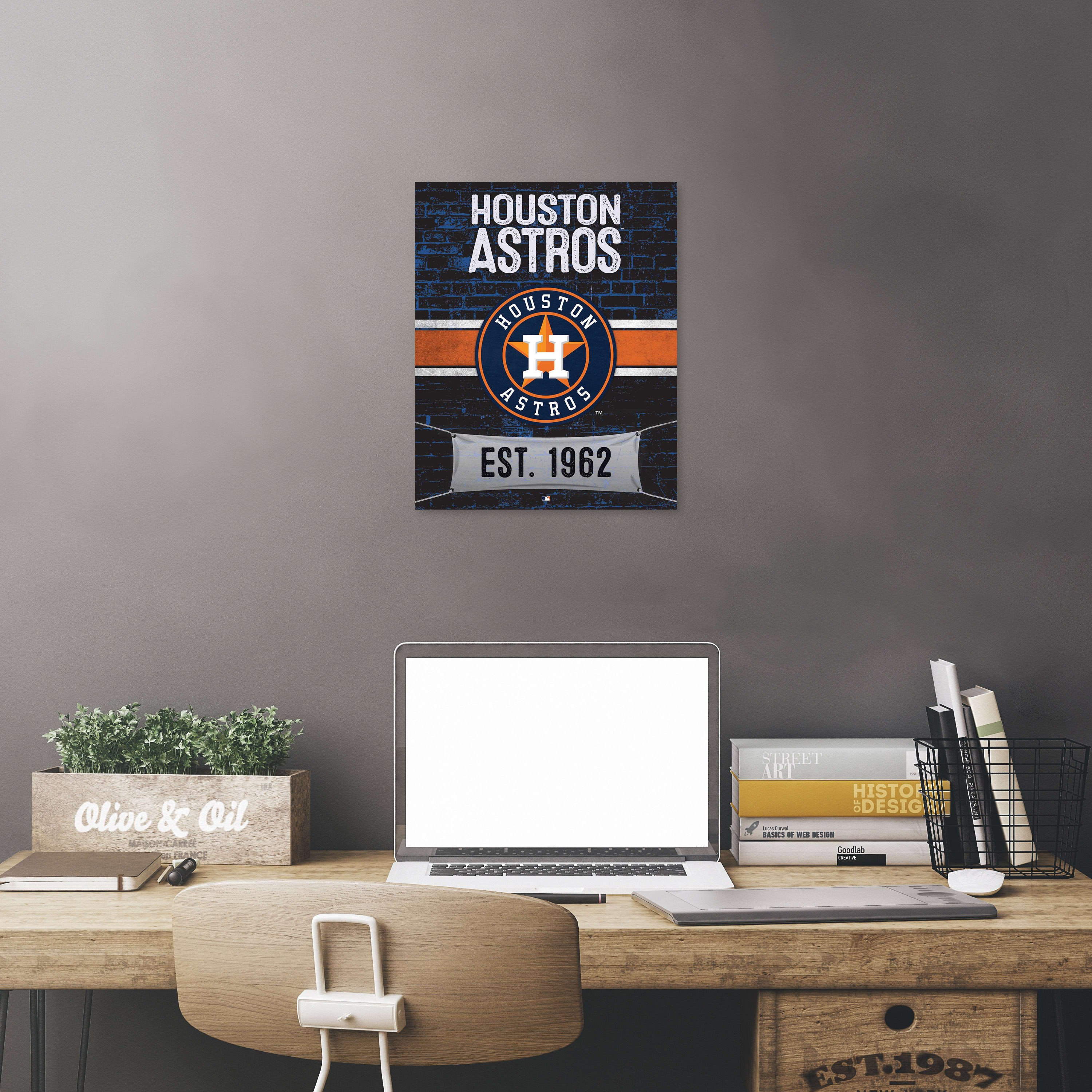 12x12 Bedroom Furniture Layout Inspirational Houston astros Brickyard Design Ficially Licensed Mlb Printed Canvas Art