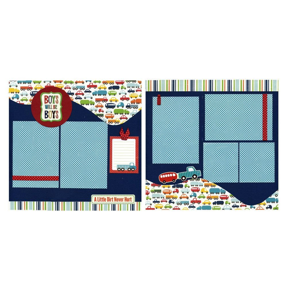 12x12 Bedroom Furniture Layout Lovely Two 12x12 Premade Scrapbook Pages Boys Will Be Boys