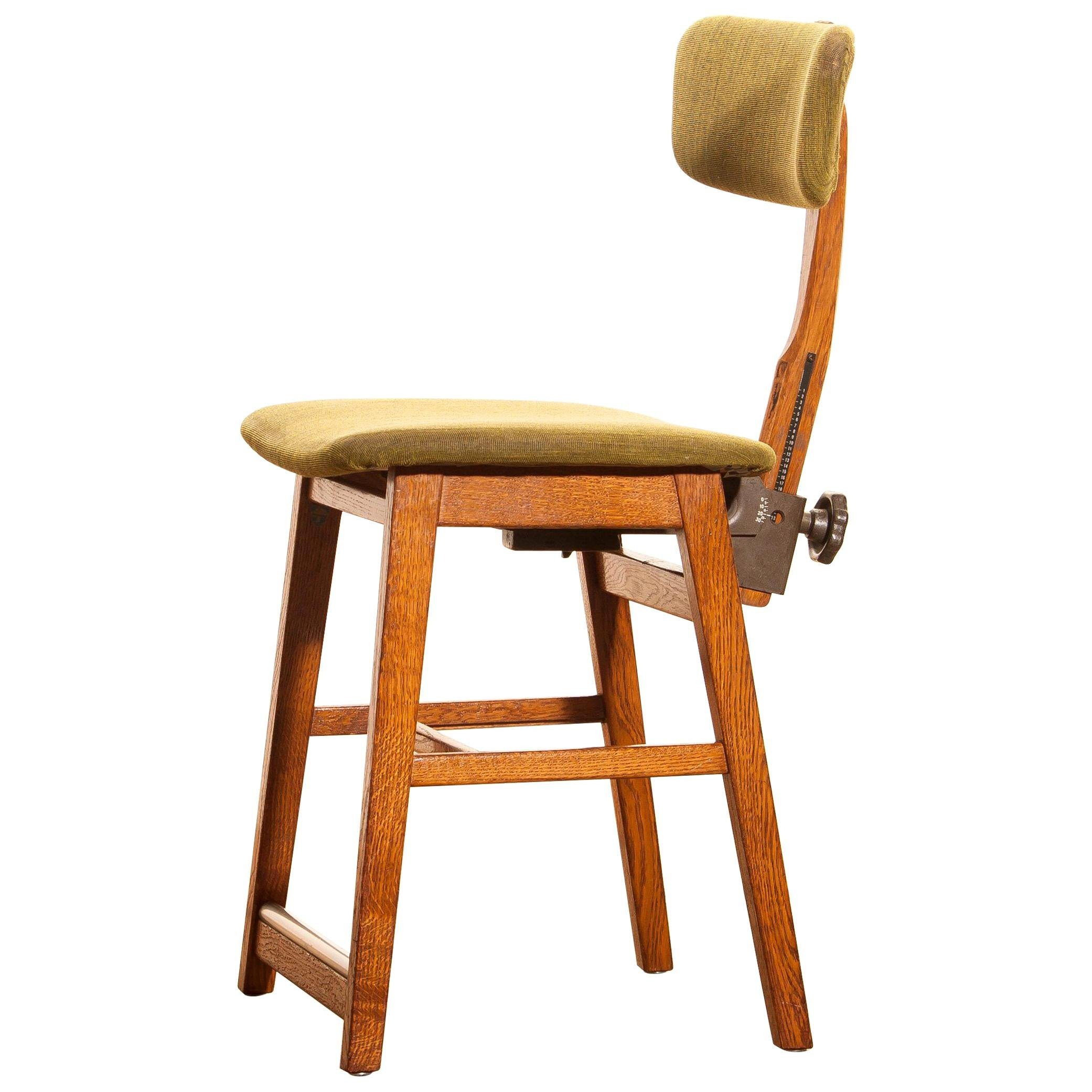 1940s Bedroom Furniture Styles Fresh 1940s Oak and Wool Desk Chair by 'tvidabergs Sweden for