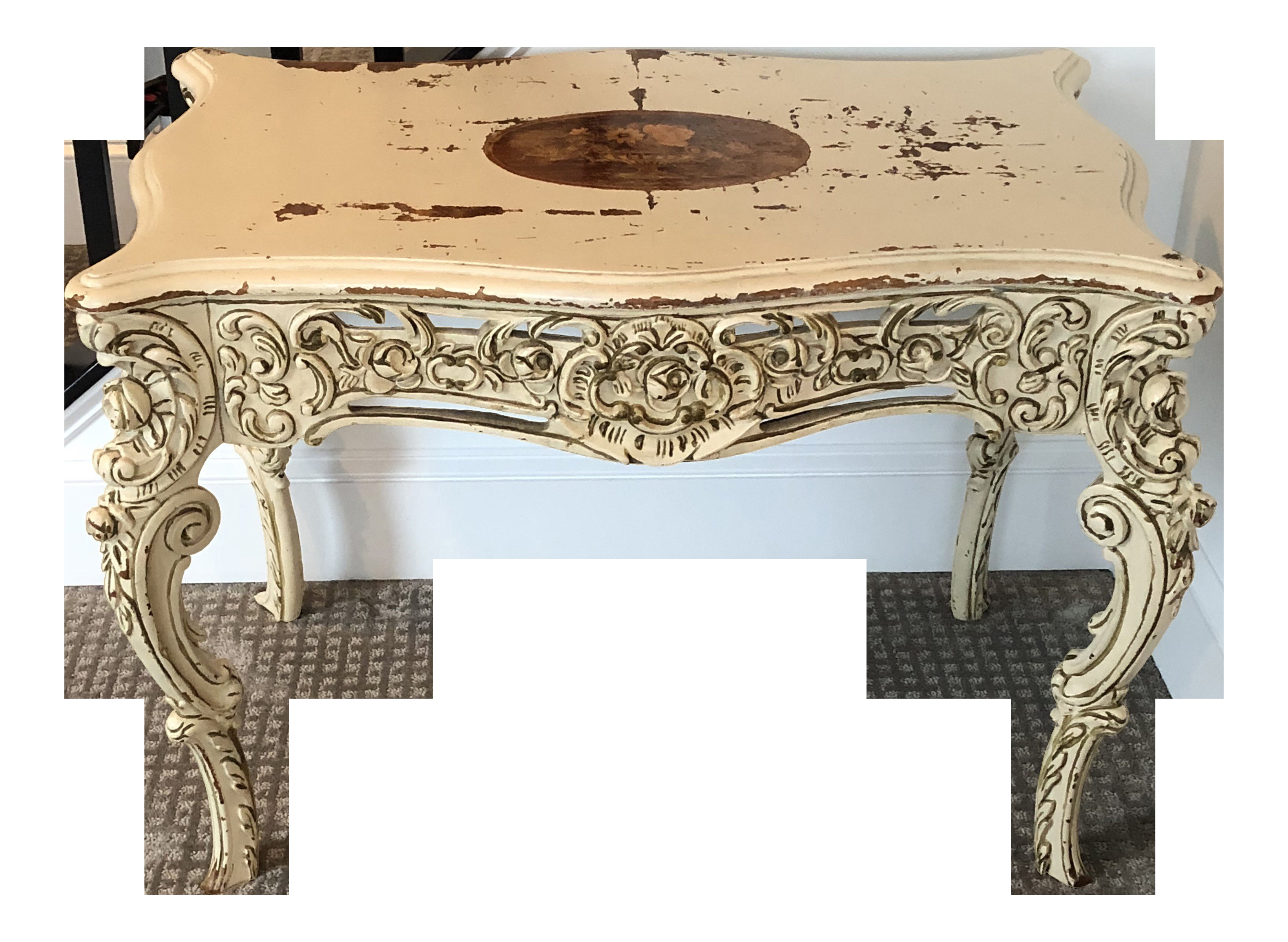 1940s Bedroom Furniture Styles New 1940s Shabby Chic Painted Inlay Writing Desk