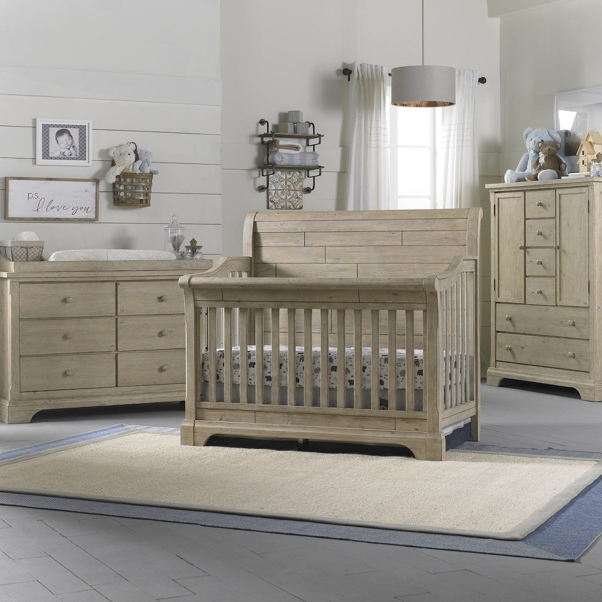 3 Pice Bedroom Set Luxury Cosi Bella Delfino 3 Piece Nursery Set In Farmhouse Pine