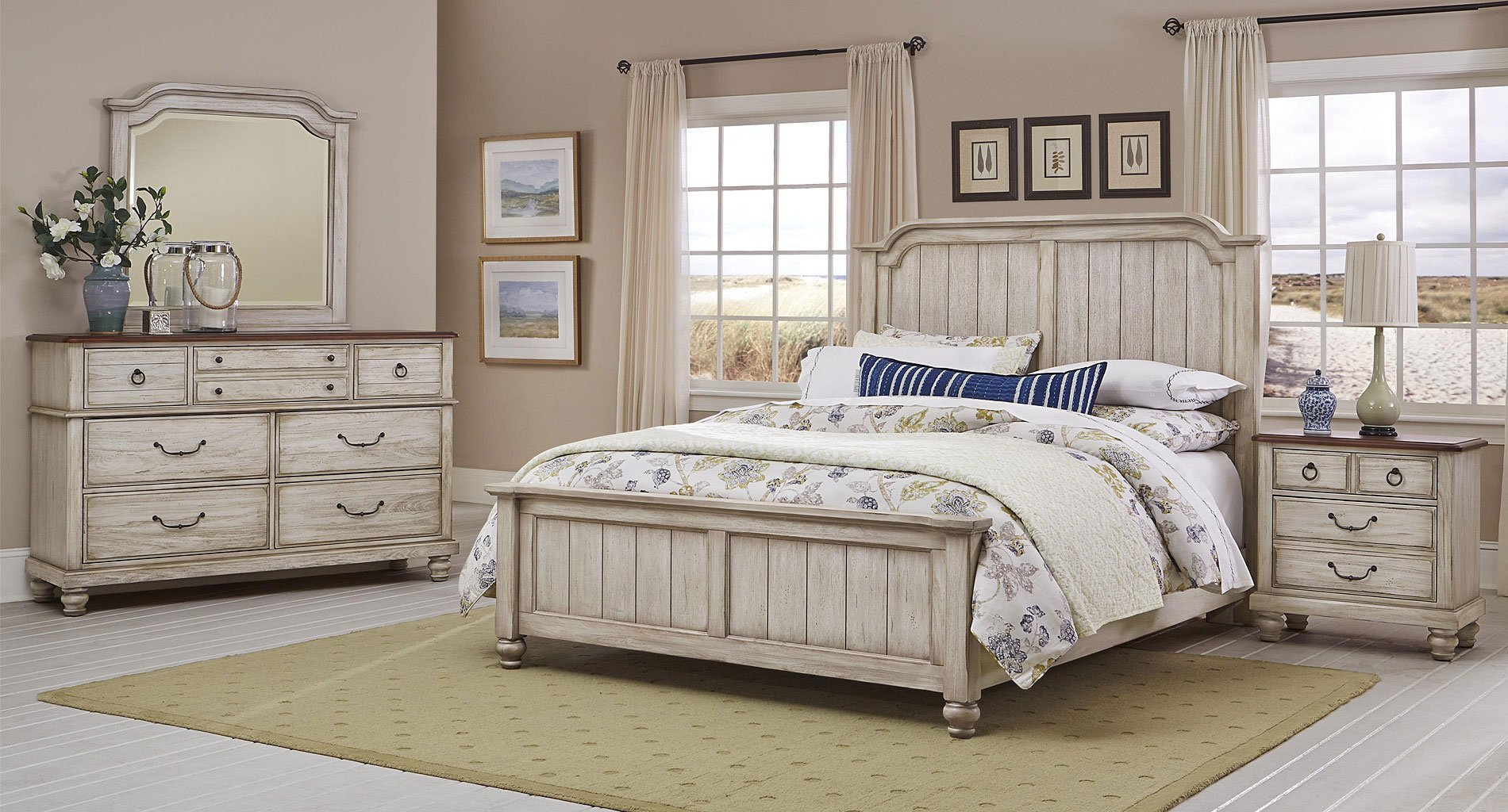 3 Pice Bedroom Set New Distressed F White Bedroom Furniture