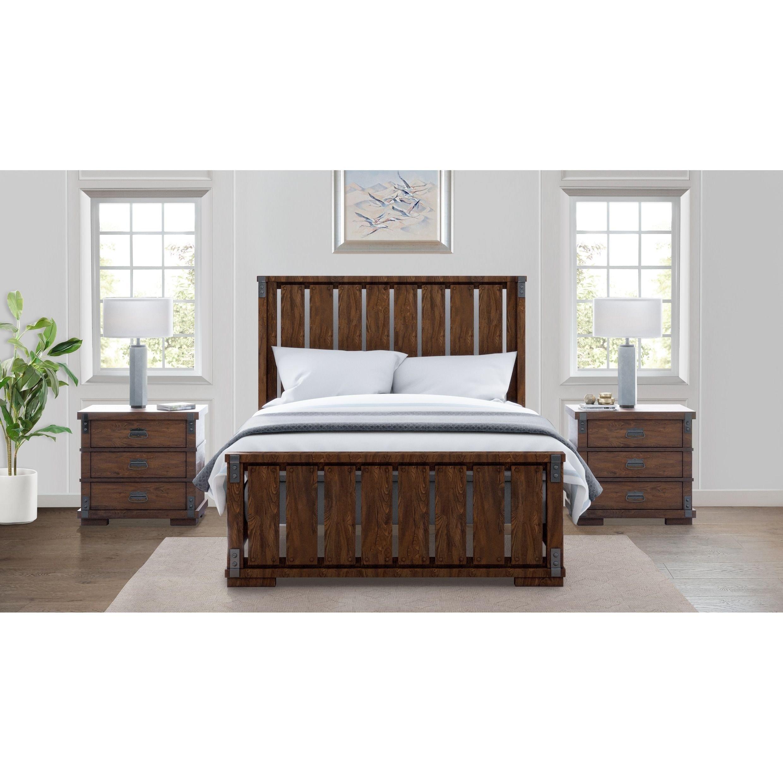 3 Piece Bedroom Furniture Set Best Of Abbyson Kingsley Vintage Oak Wood 3 Piece Bedroom Set King