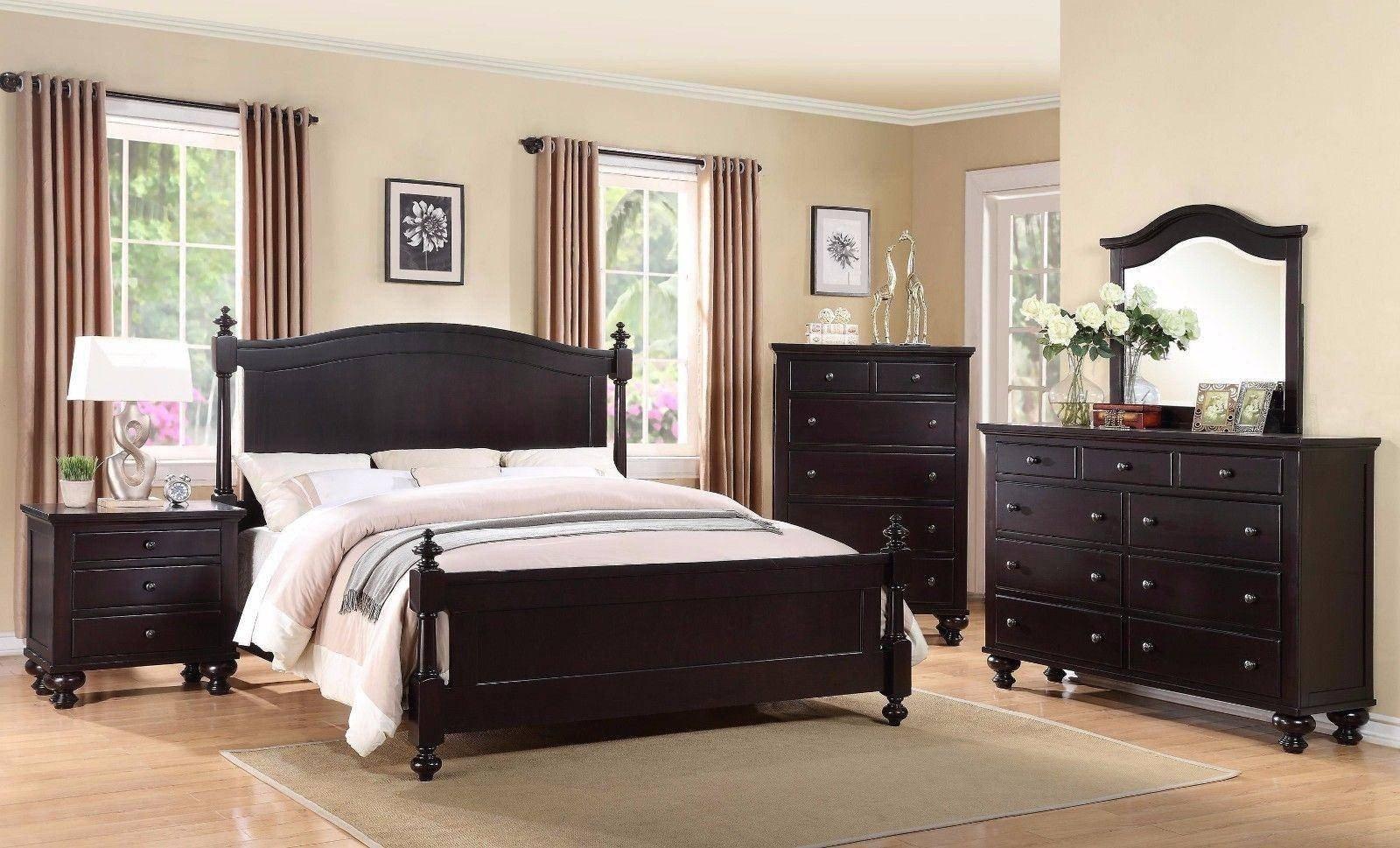 3 Piece Bedroom Furniture Set Best Of Crown Mark B1350 sommer Traditional Black Espresso King Size Bedroom Set 3 Pcs