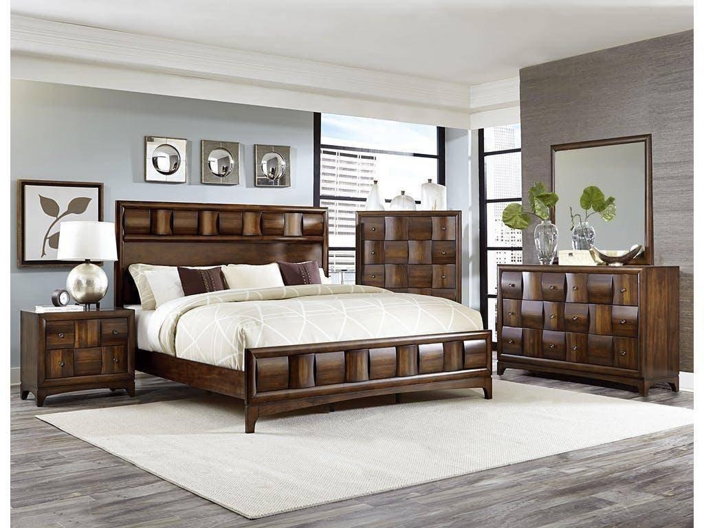4 Piece Bedroom Set Elegant Homelegance 1852k 1ck Porter Walnut California King Bedroom
