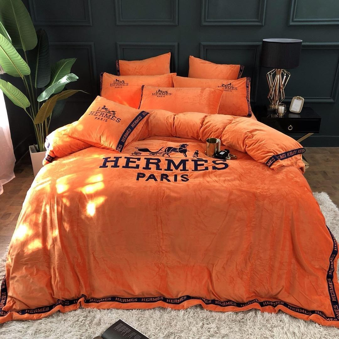 4 Piece Bedroom Set Unique Jhhigh Quality Luxury Letter High End Bed Sheet Sets Spring and Autumn Suit Letter Print Cotton Royal Bedding Suit Duvet forter Duvet Sizes From