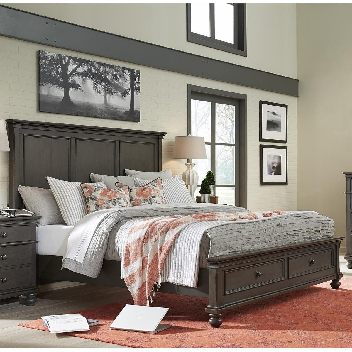 4 Piece Queen Bedroom Set Elegant Riva Ridge Oxford 4 Piece Queen Bedroom Set In Peppercorn