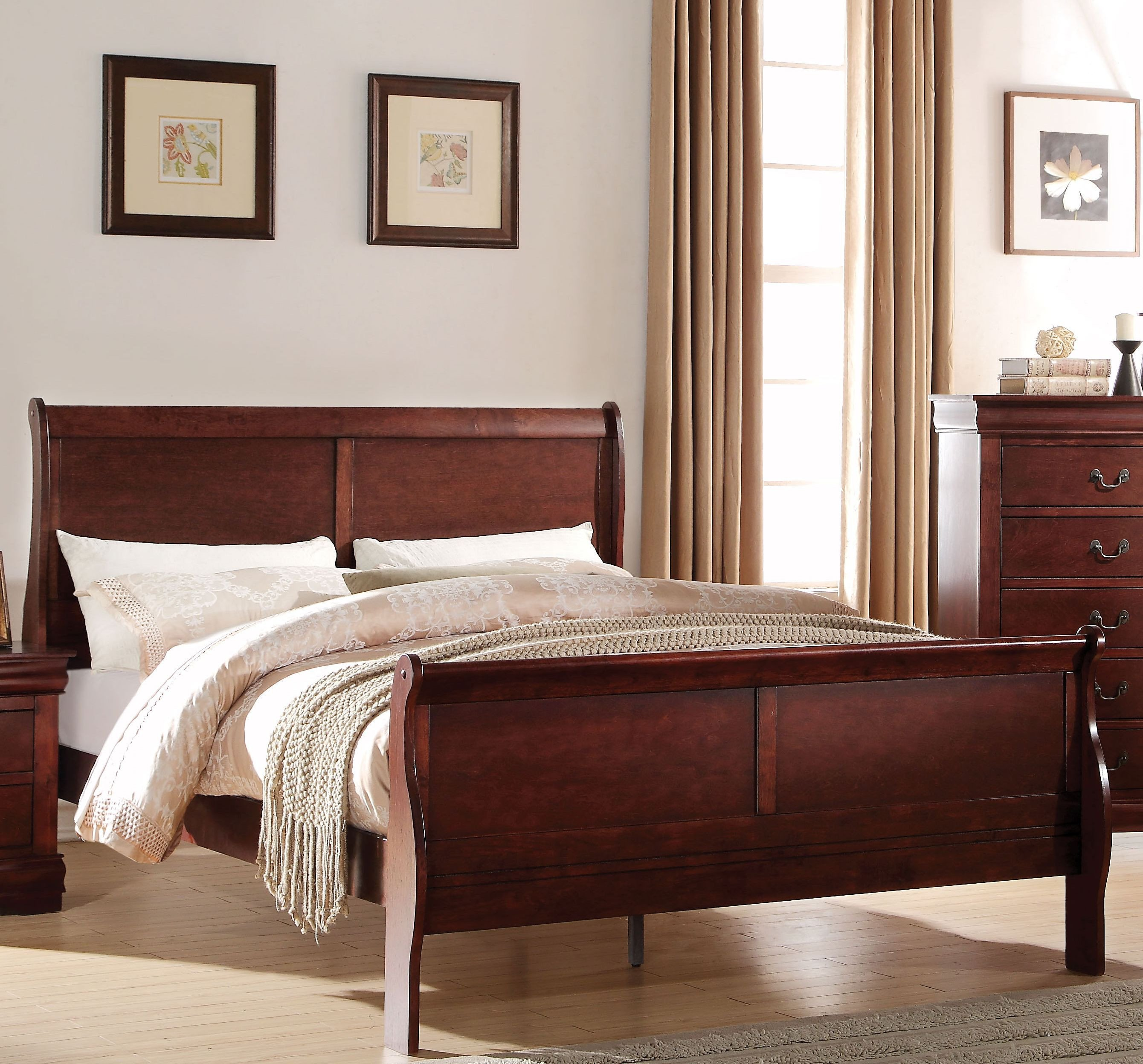 4 Piece Queen Bedroom Set Inspirational Acme Louis Philippe Queen Panel Bed In Cherry Q