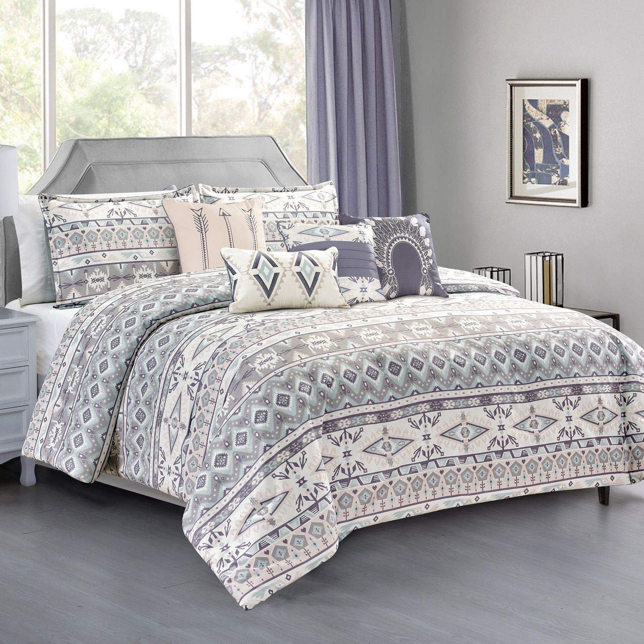 4 Piece Queen Bedroom Set Inspirational Kinglinen 7 Piece Yvonne forter Set Queen