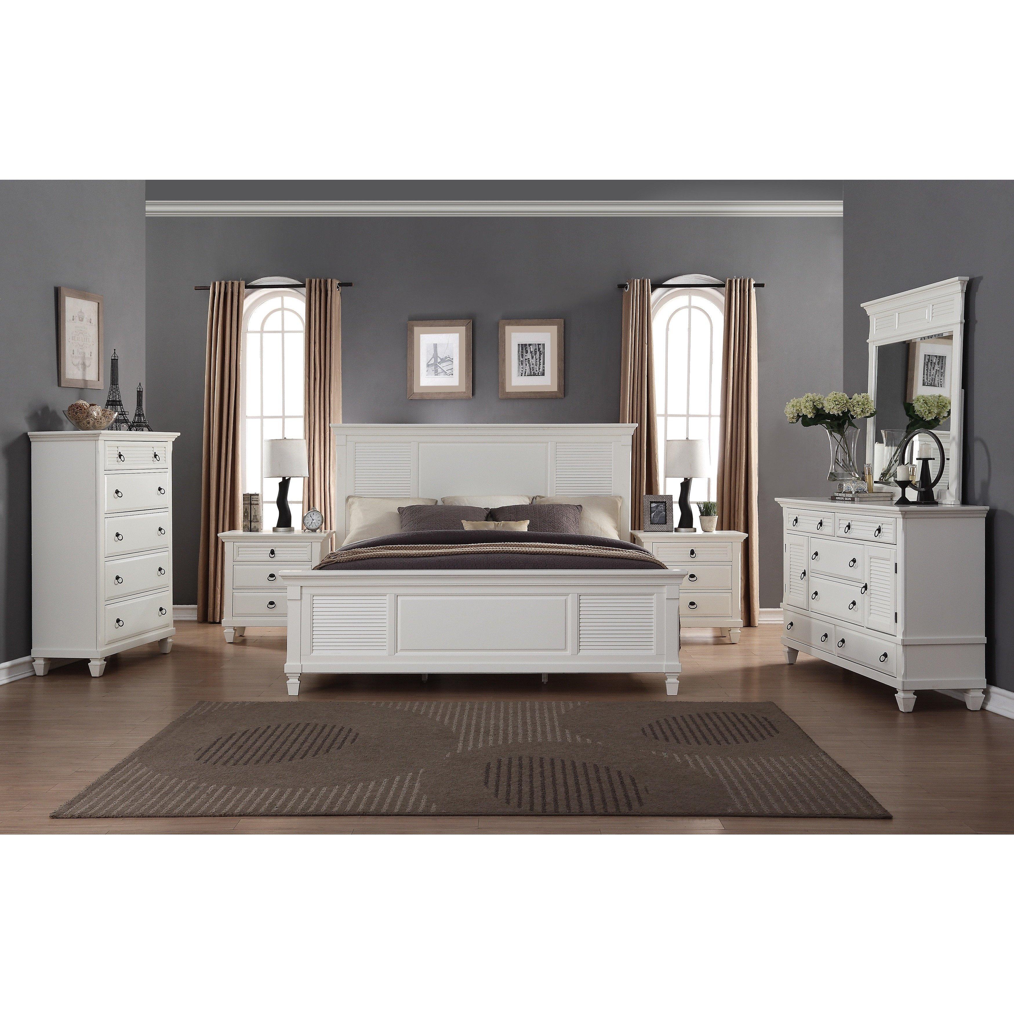 6 Piece Queen Bedroom Set Unique Regitina White 6 Piece Queen Size Bedroom Furniture Set