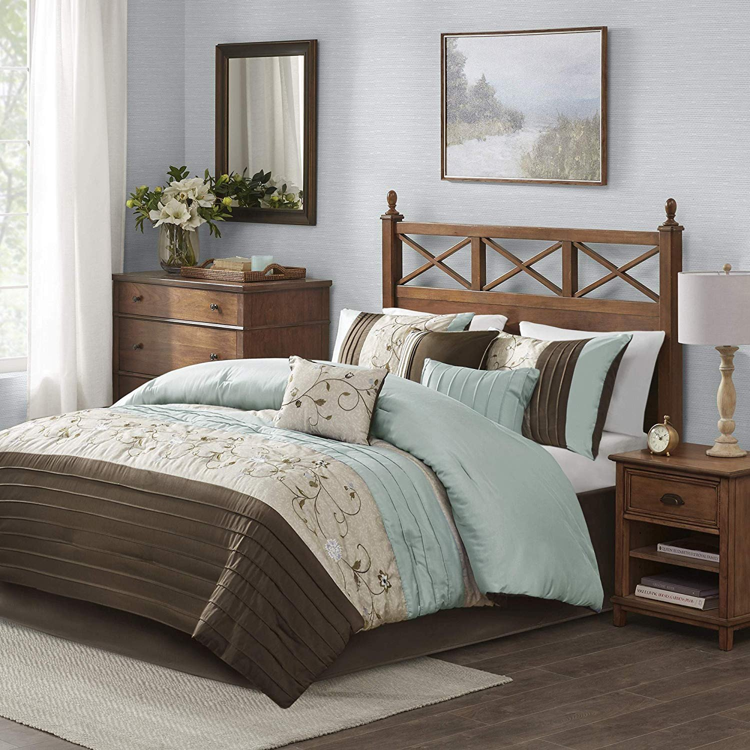 7 Piece Bedroom Set King Fresh Madison Park Serene 7 Piece forter Set King Blue
