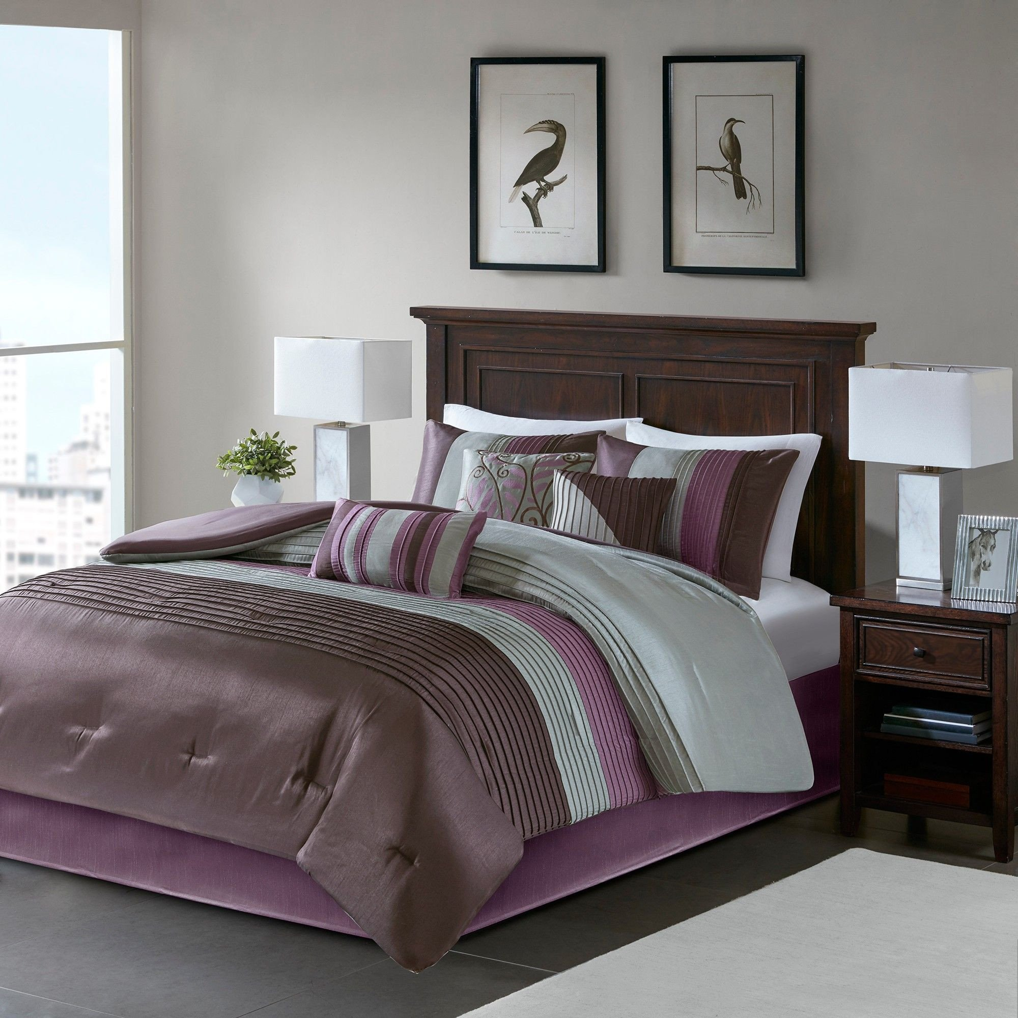 7 Piece Bedroom Set Unique Salem 7 Piece forter Set Purple California King In