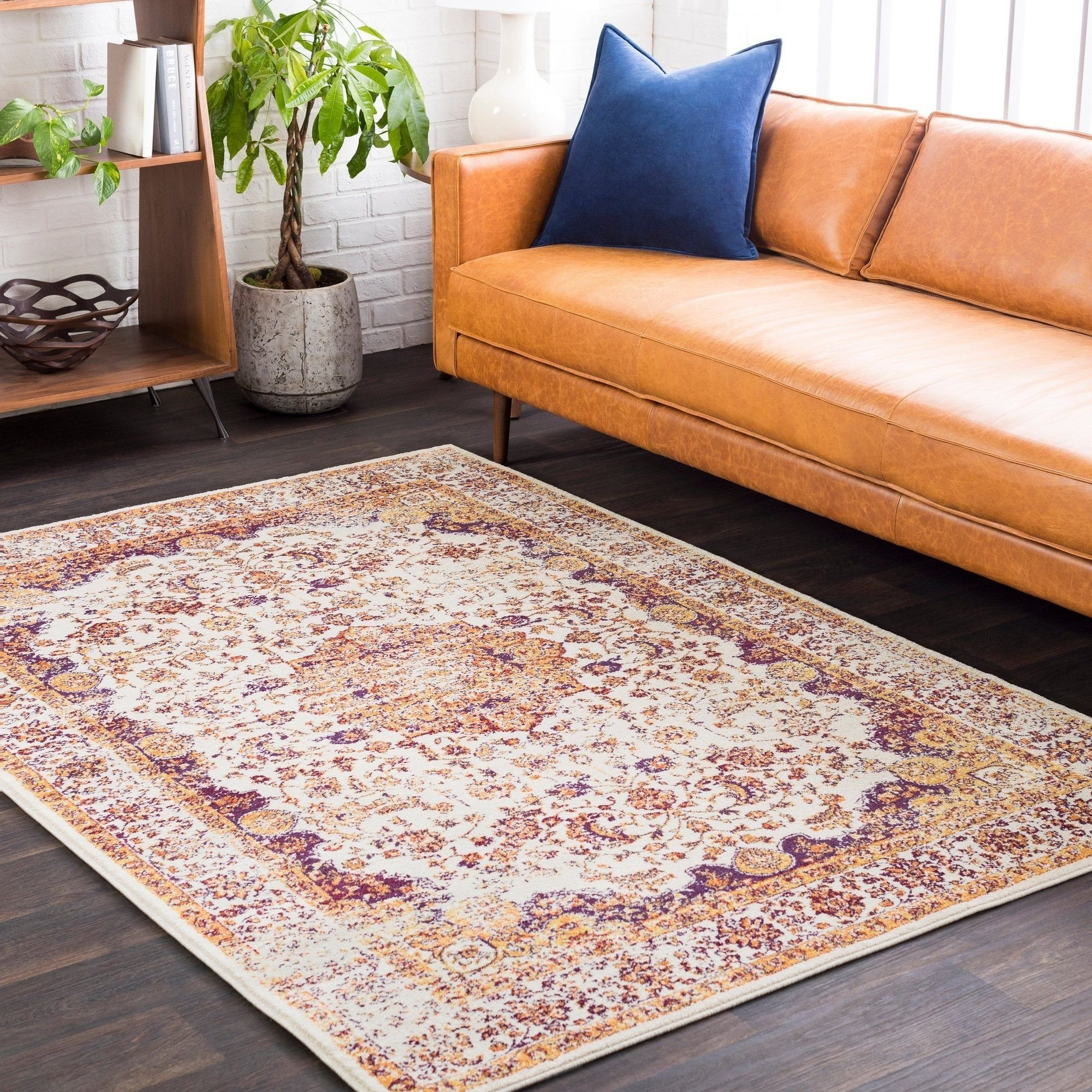 "Accent Rugs for Bedroom Beautiful Aban Faded Border Accent Rug 2 2"" X 3 2 2"" X 3 orange"