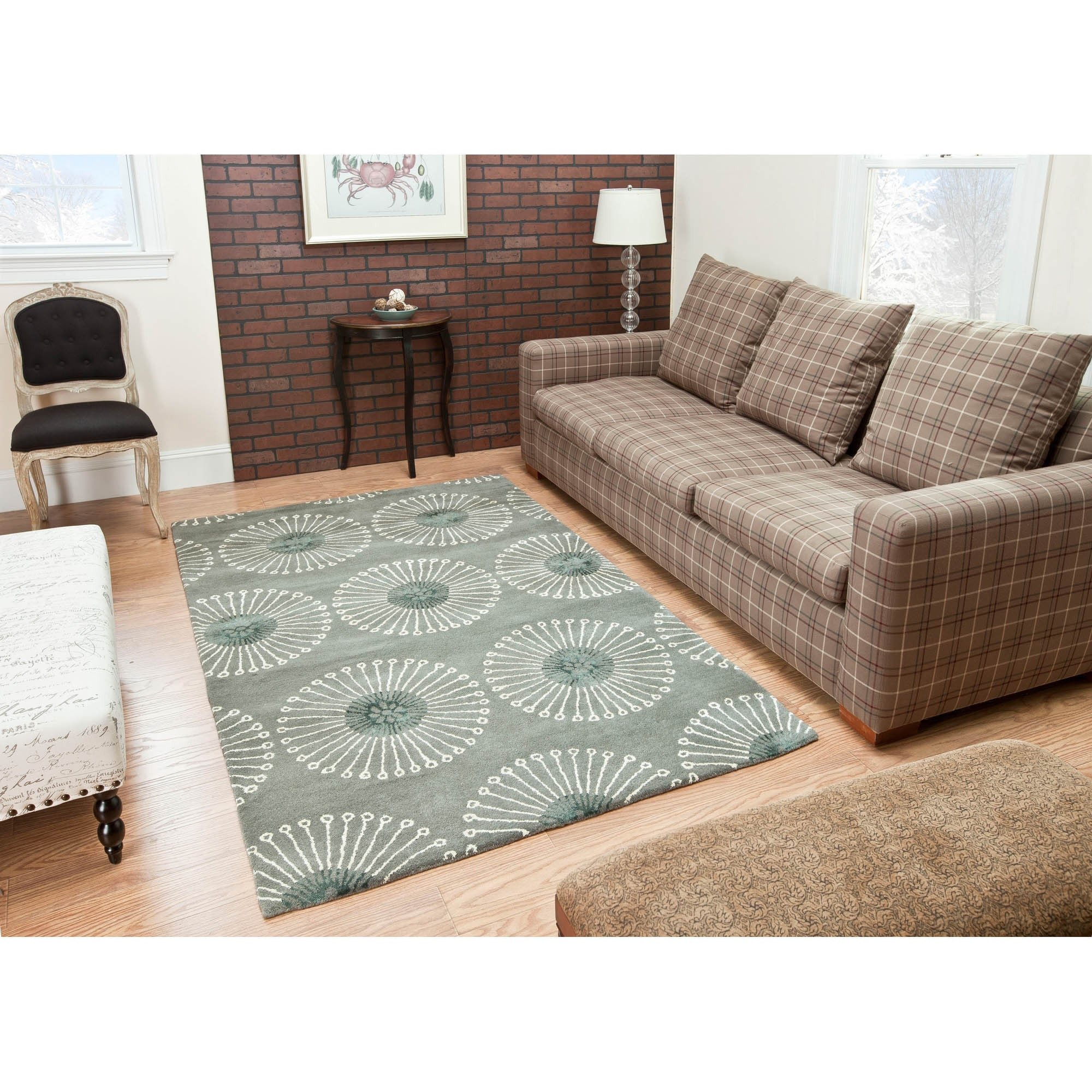 "Accent Rugs for Bedroom Beautiful Safavieh Handmade soho Zen Grey Ivory New Zealand Wool Rug 9 6"" X 13 6"""