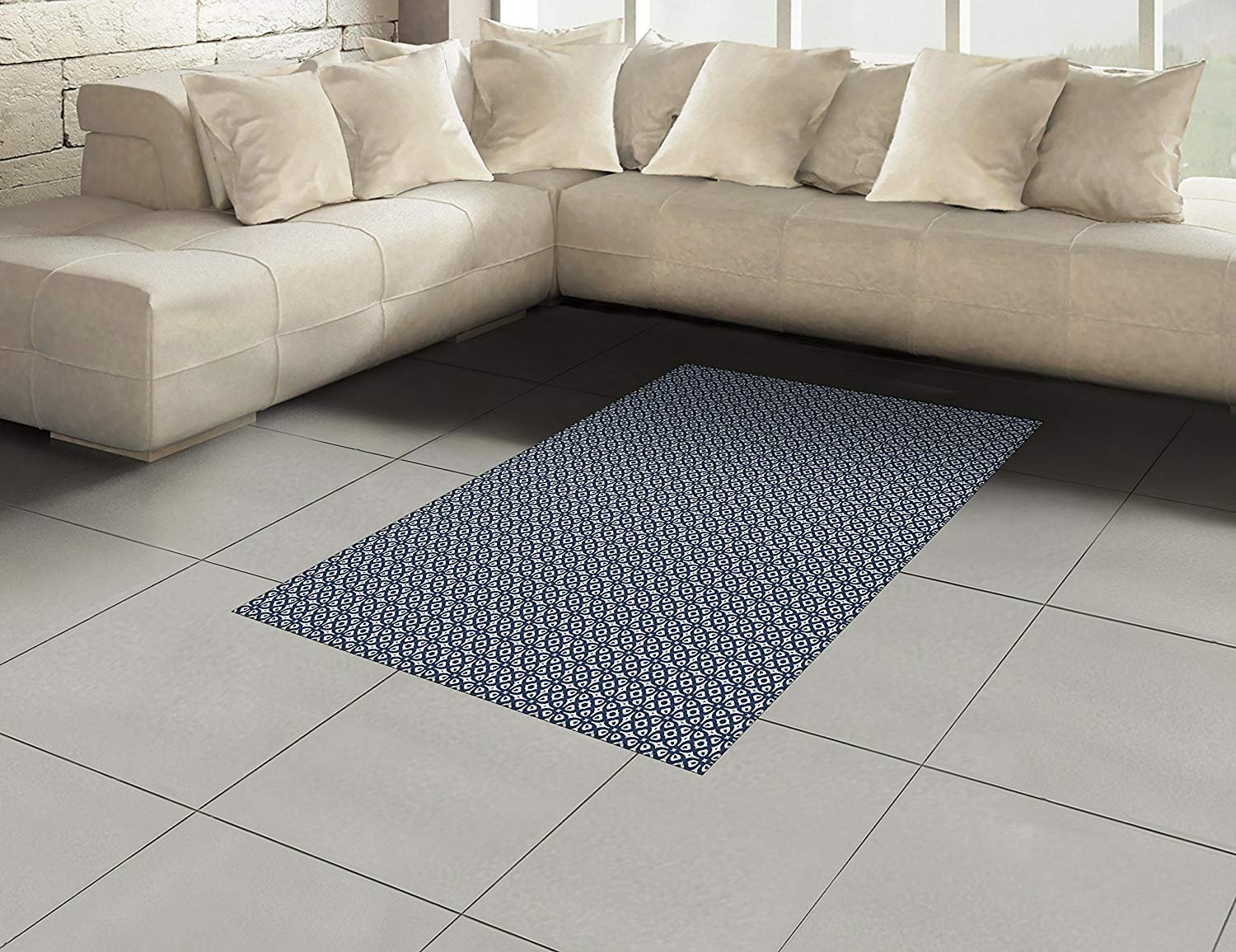 Accent Rugs for Bedroom Fresh Amazon Lunarable Geometric area Rug Vintage Geometric
