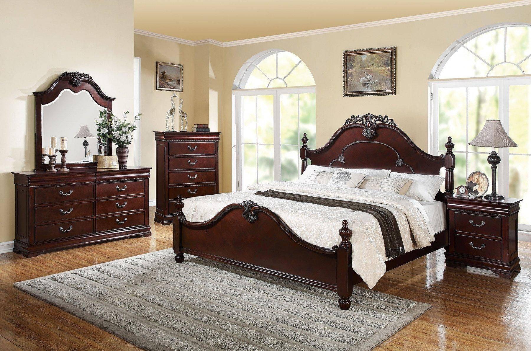 Acme Furniture Bedroom Set Beautiful Cherry Poster King Bedroom Set 5 Pcs Acme Furniture Ek