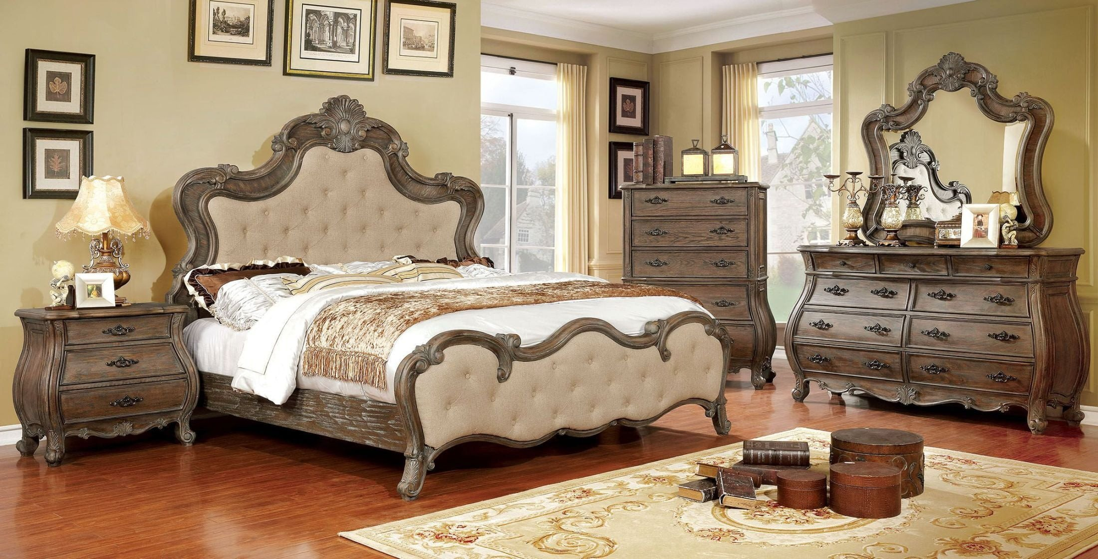 Acme Furniture Bedroom Set Luxury Cursa Rustic Natural Panel Bedroom Set