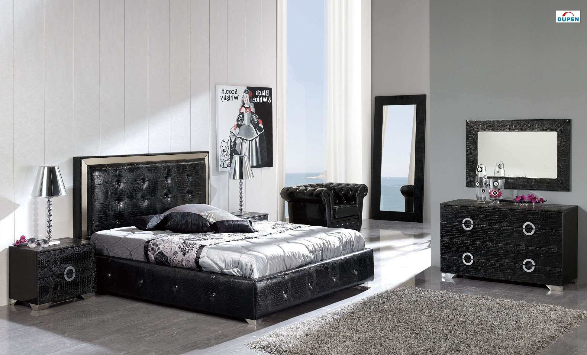 All Black Bedroom Set Beautiful Coco Bedroom Set In Black by Dupen Made In Spain