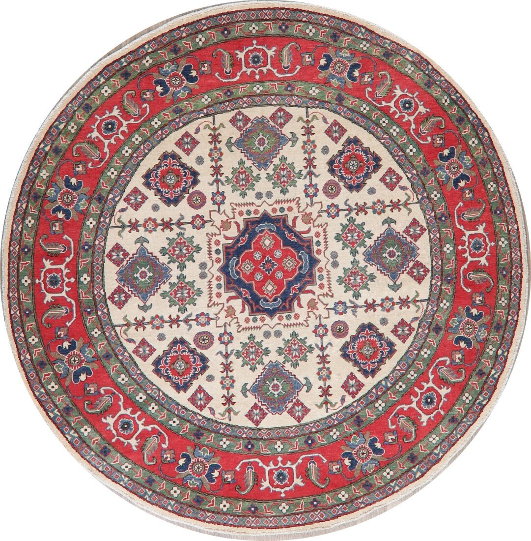 Area Rug for Bedroom New E Of A Kind Round Tufan oriental Hand Knotted 7 9 X 7 9 Wool Beige Red area Rug