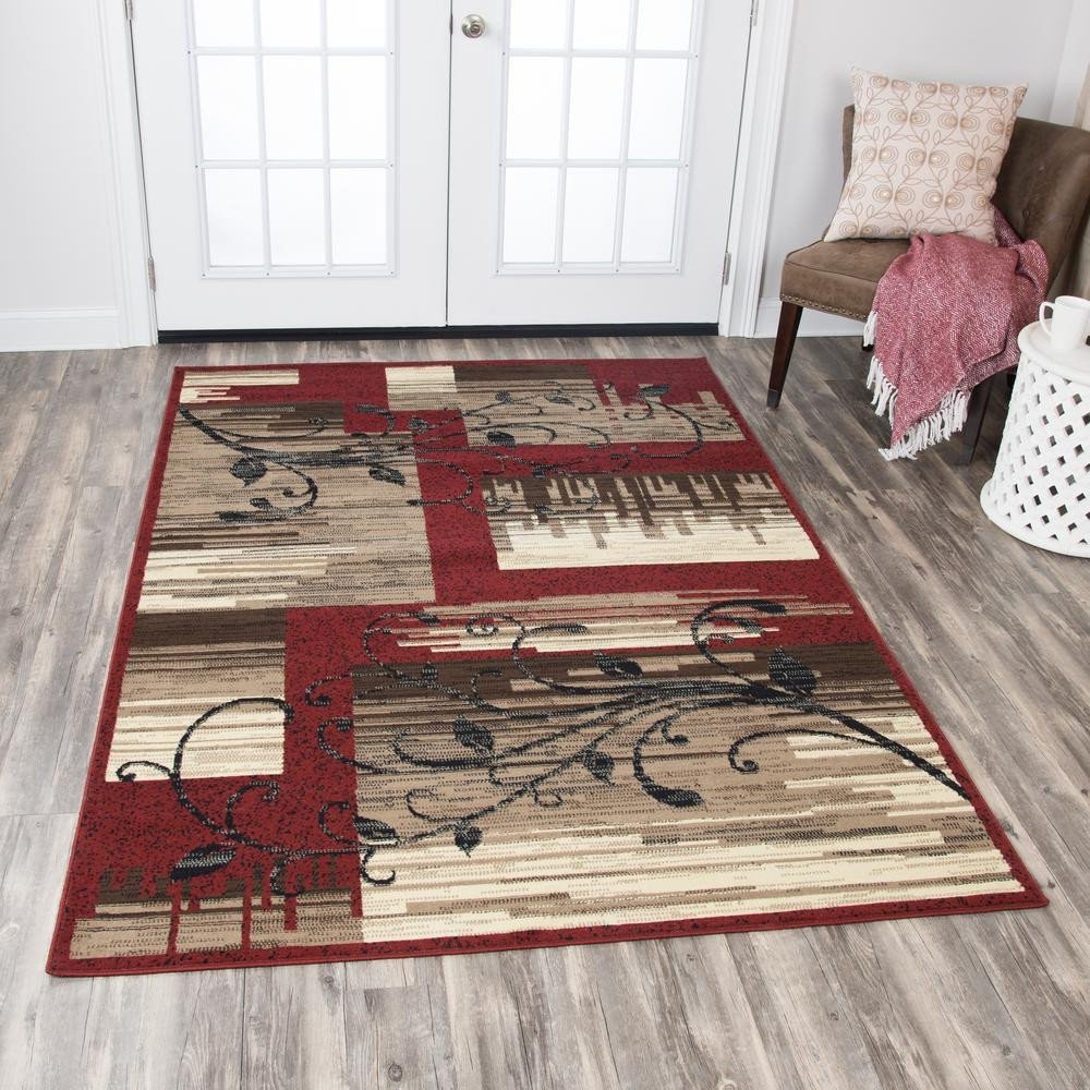 Area Rug for Bedroom Size Fresh Rizzy Home Xcite Red Brown 8 Ft X 10 Ft Rectangle area Rug