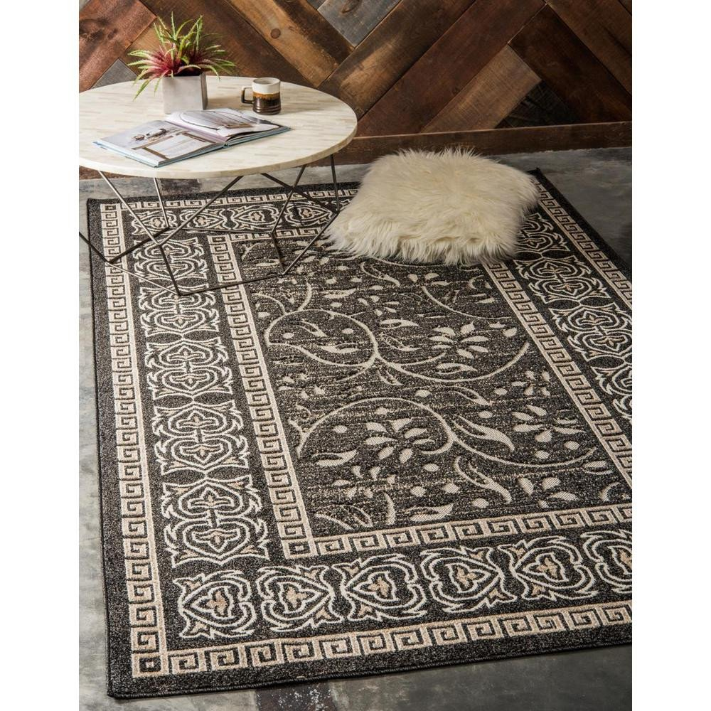 Area Rug for Bedroom Size Luxury Unique Loom Indoor Outdoor atlanta Black 7 0 X 10 0 area Rug