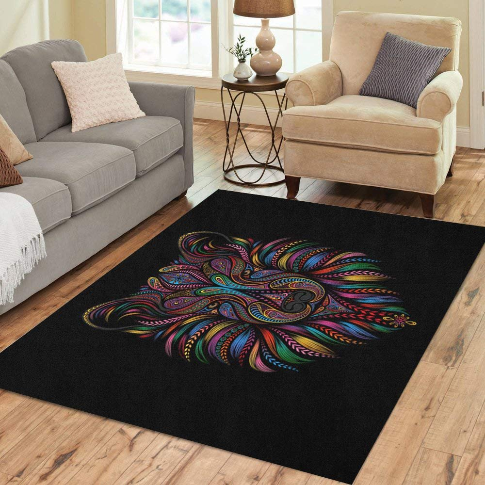 Area Rug for Bedroom Size Unique Amazon Semtomn area Rug 2 X 3 Abstract Moon astronomy
