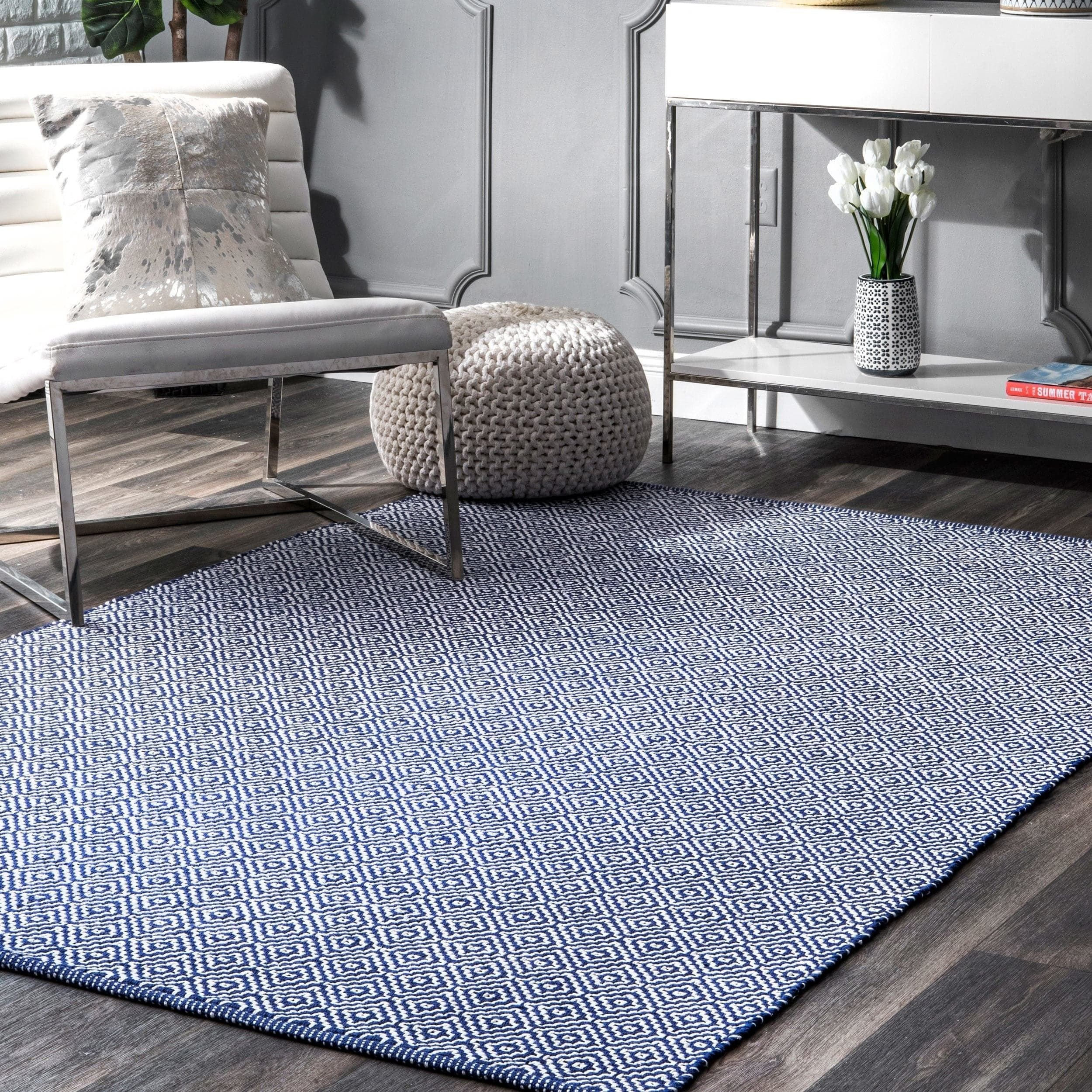 Area Rug for Bedroom Size Unique Nuloom Handmade Flatweave Diamond Cotton area Rug