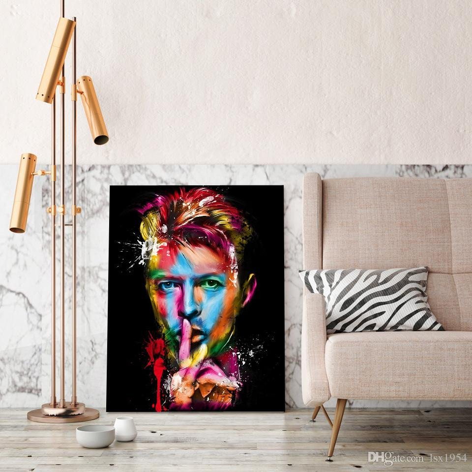 Artwork for Bedroom Wall Beautiful 2019 David Bowie Canvas Wall Art Sticker Oil Painting Hd Canvas Prints Home Decoration Living Room Bedroom Wall Art Painting No Framed From