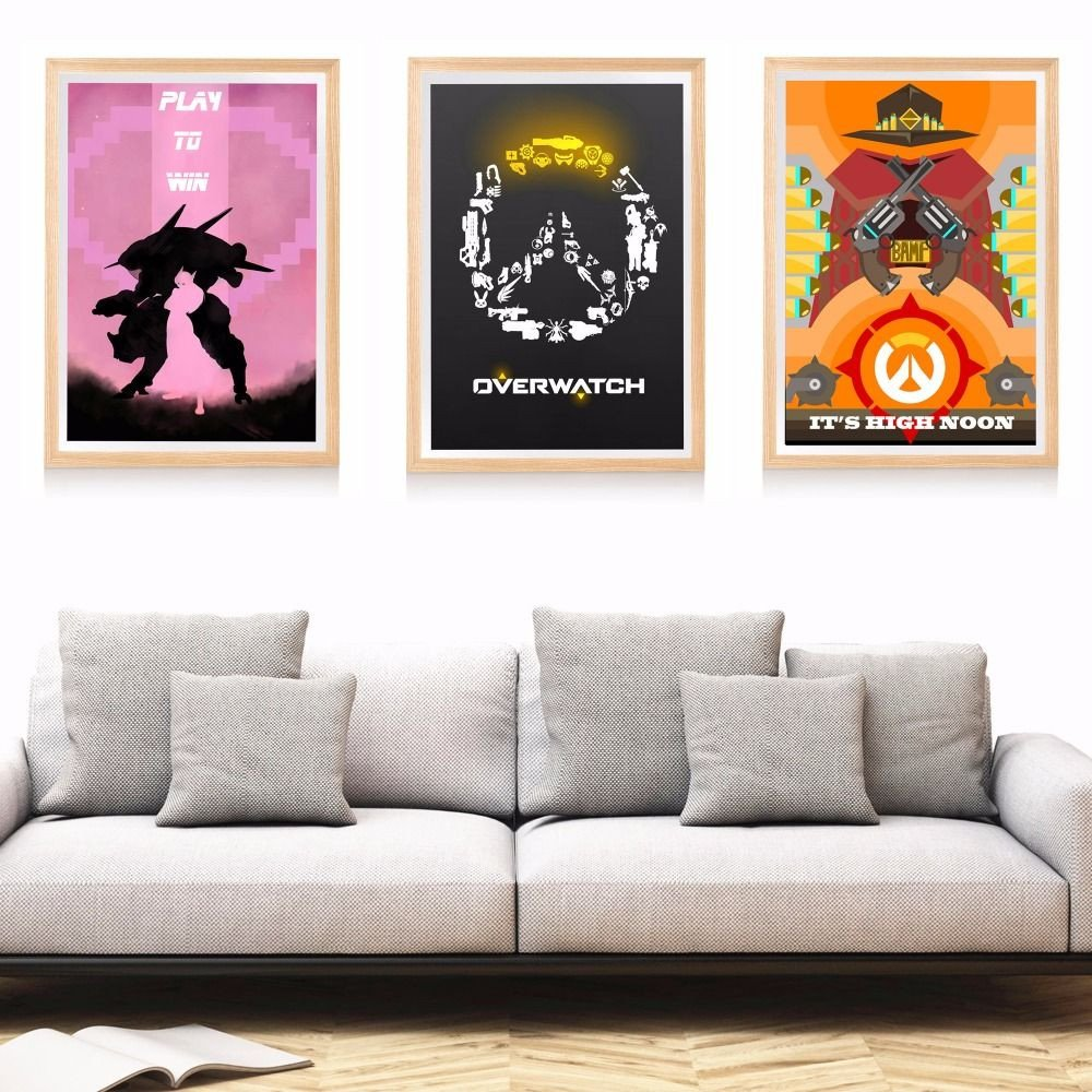 Artwork for Bedroom Wall Elegant Overwatch Game Artwork Canvas Art Print Painting Poster Wall