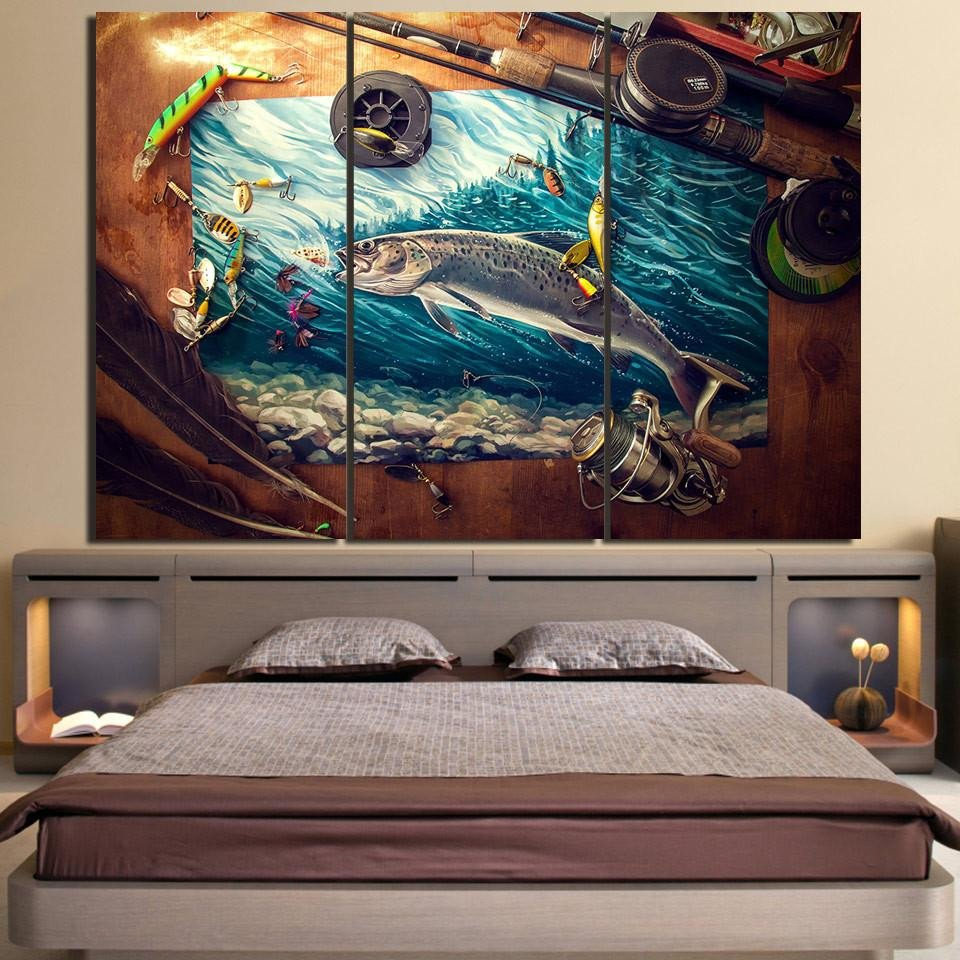 Artwork for Bedroom Wall New Fisherman S Landing 3 Piece Wall Art Canvas