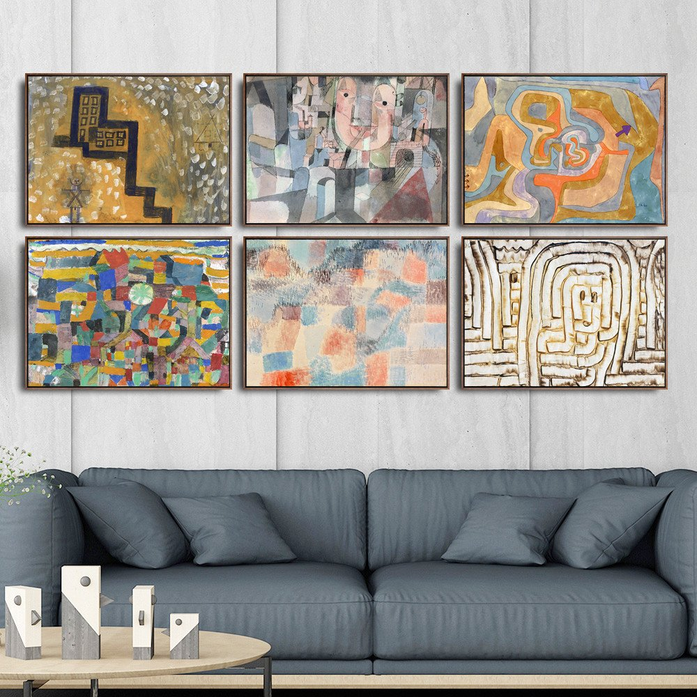 Artwork for Bedroom Walls Inspirational Home Decoration Art Wall Fro Living Room Poster Print Canvas Paintings Switzerland Paul Klee Abstract Oil Painting