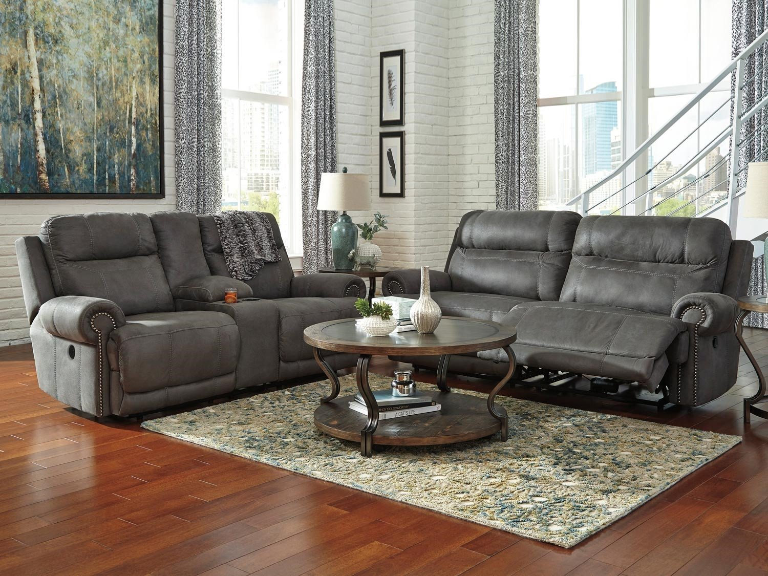 Ashley Bedroom Furniture Sale Elegant Austere Reclining 2 Piece Living Room Set Gray