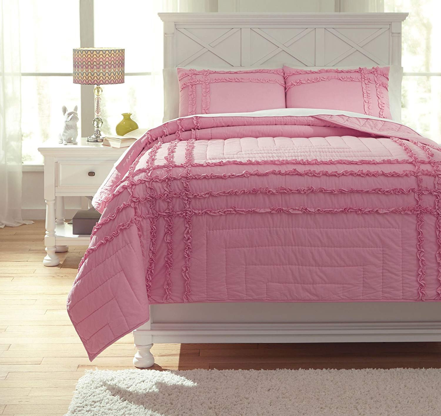 Ashley Black Bedroom Set Beautiful Amazon ashley Megara Full Quilt Set In Pink Home & Kitchen