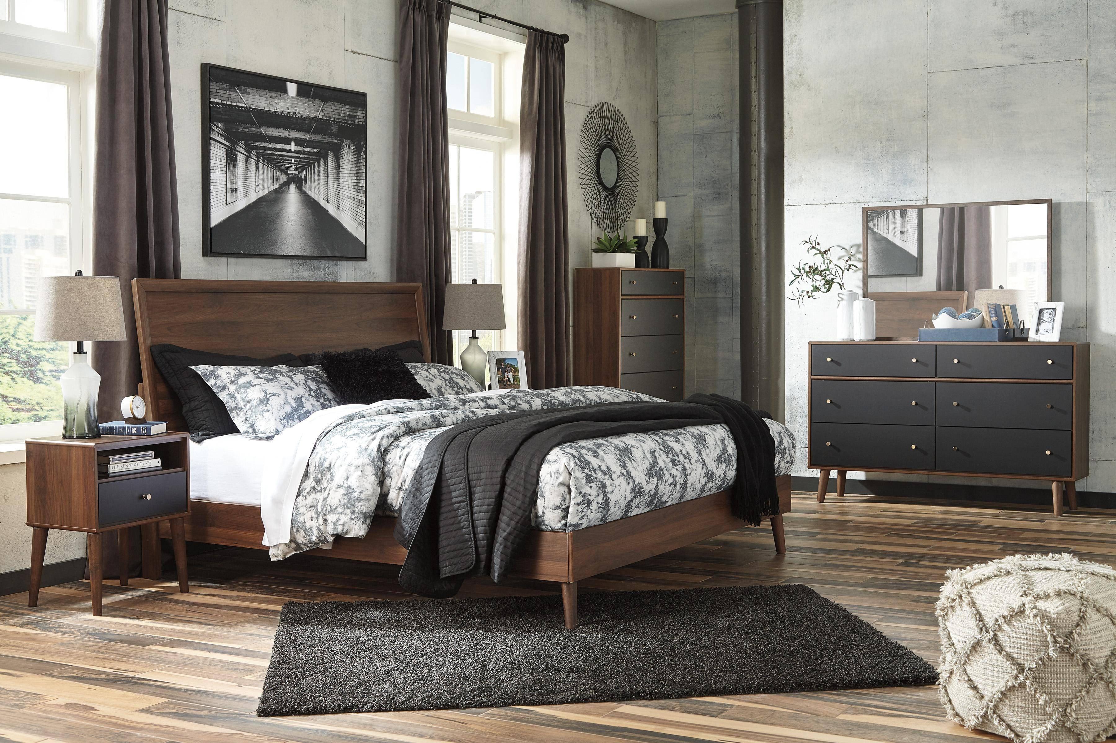 Ashley Black Bedroom Set Elegant ashley Daneston B292 King Size Panel Bedroom Set 6pcs In