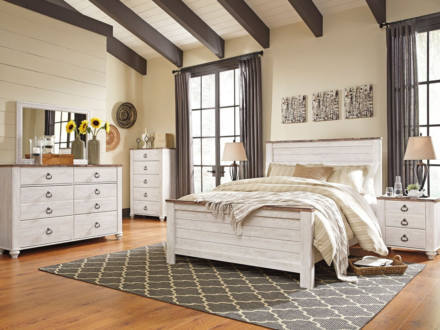 Ashley Catalina Bedroom Set Beautiful Willowton 5 Pc Queen Panel Bedroom