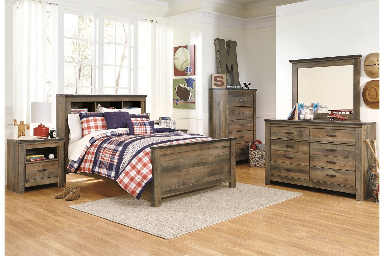 Ashley Furniture Bedroom Set Price Luxury Trinell Full Bookcase Headboard